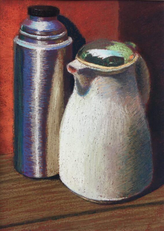 PETRONELLA M VAN LEUSDEN - painting of Flasks